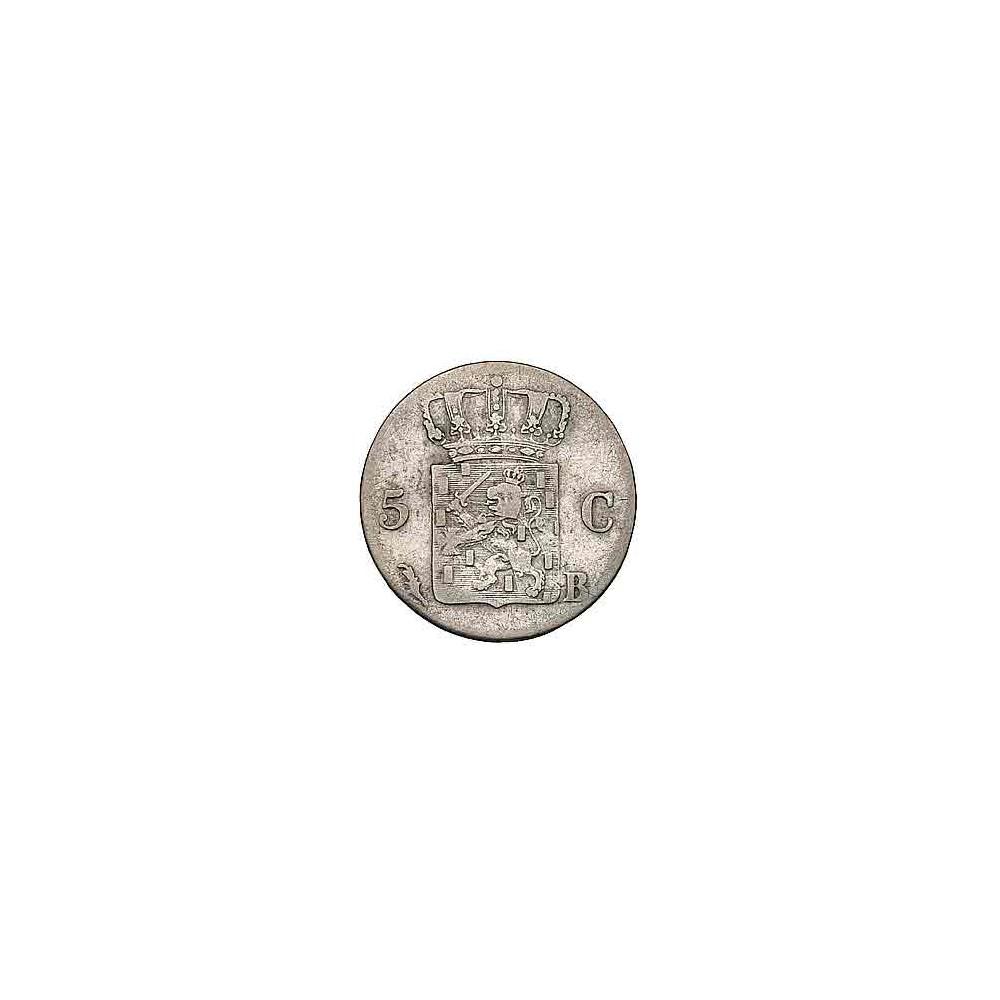 Koninkrijksmunten Nederland 5 cent 1828 B