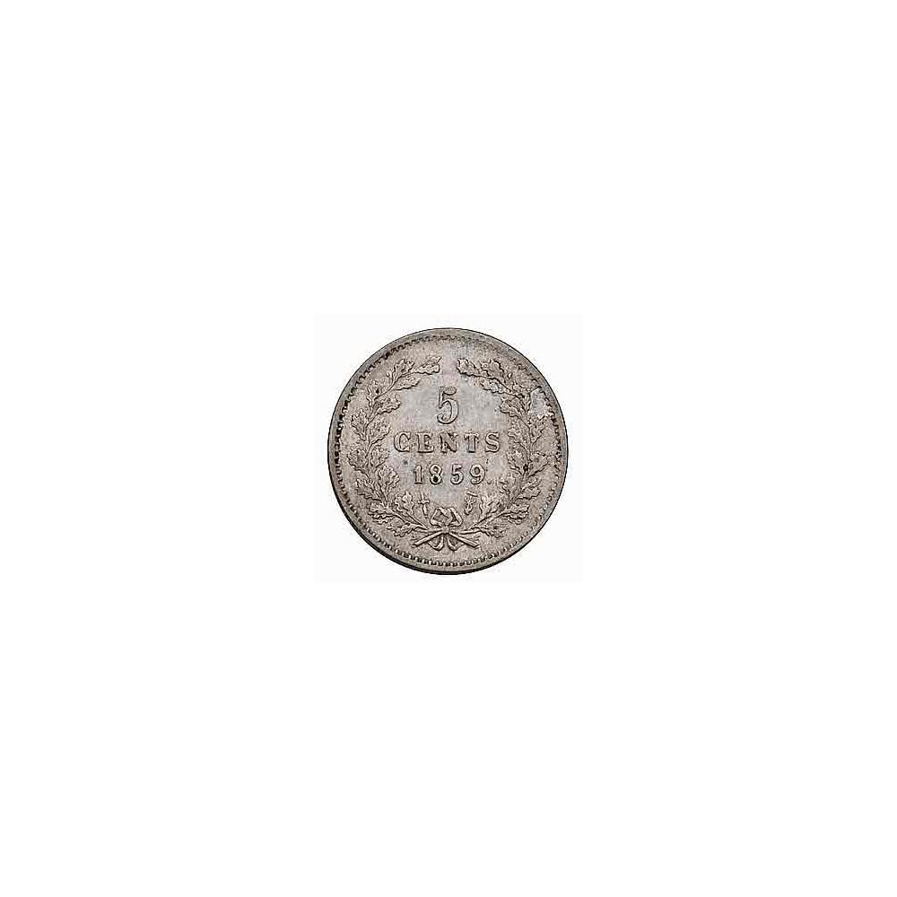 Koninkrijksmunten Nederland 5 cent 1859
