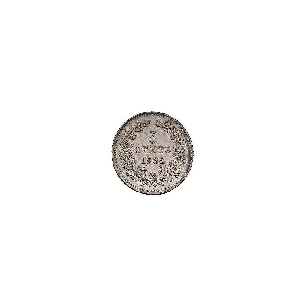Koninkrijksmunten Nederland 5 cent 1862