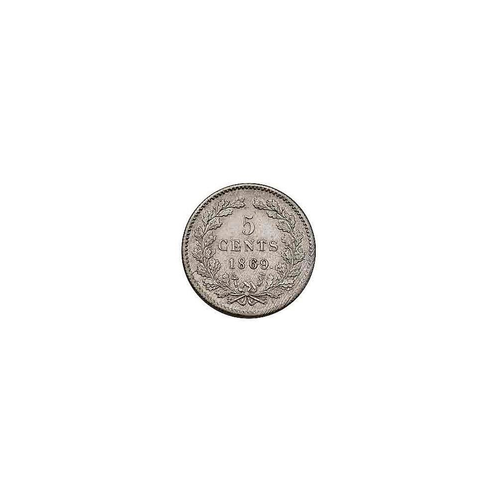 Koninkrijksmunten Nederland 5 cent 1869