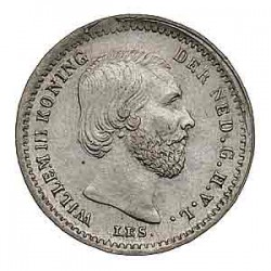 Koninkrijksmunten Nederland 5 cent 1876