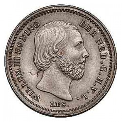 Koninkrijksmunten Nederland 5 cent 1879