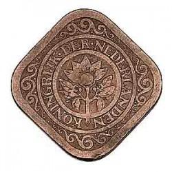 Koninkrijksmunten Nederland Complete serie 5 cent Wilhelmina de jaren 1907, 1908, 1909, 1913, 1914, 1923, 1929, 1932, 1933, 1934