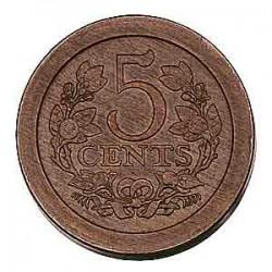 Koninkrijksmunten Nederland 5 cent 1907