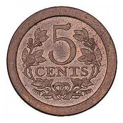 Koninkrijksmunten Nederland 5 cent 1908