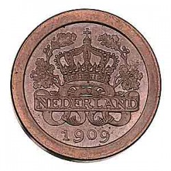 Koninkrijksmunten Nederland 5 cent 1909