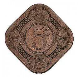 Koninkrijksmunten Nederland 5 cent 1929