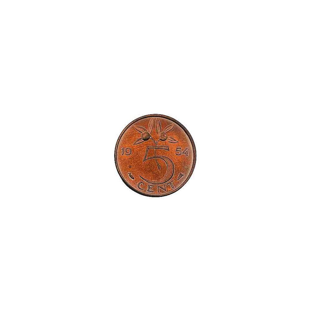 Koninkrijksmunten Nederland 5 cent 1954