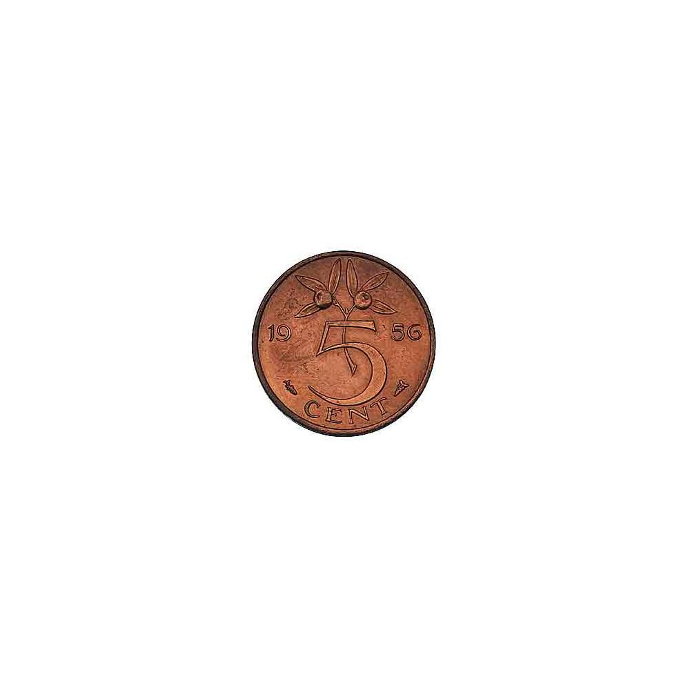 Koninkrijksmunten Nederland Complete serie Juliana 5 cent 1950-1980