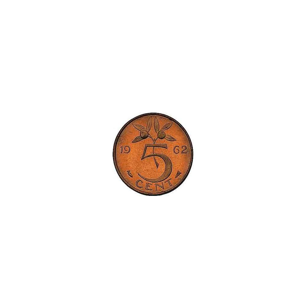 Koninkrijksmunten Nederland 5 cent 1962