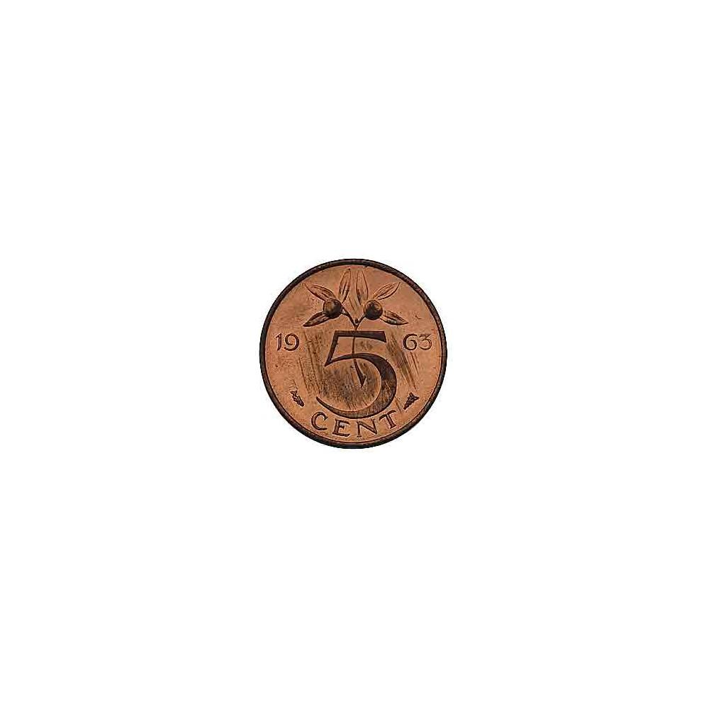 Koninkrijksmunten Nederland 5 cent 1963