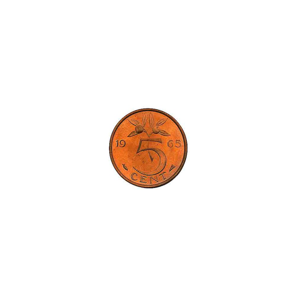 Koninkrijksmunten Nederland 5 cent 1965