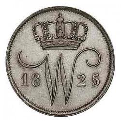 Koninkrijksmunten Nederland 10 cent 1825 B