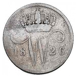 Koninkrijksmunten Nederland 10 cent 1826 B