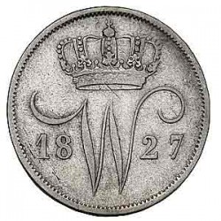 Koninkrijksmunten Nederland 10 cent 1827 B