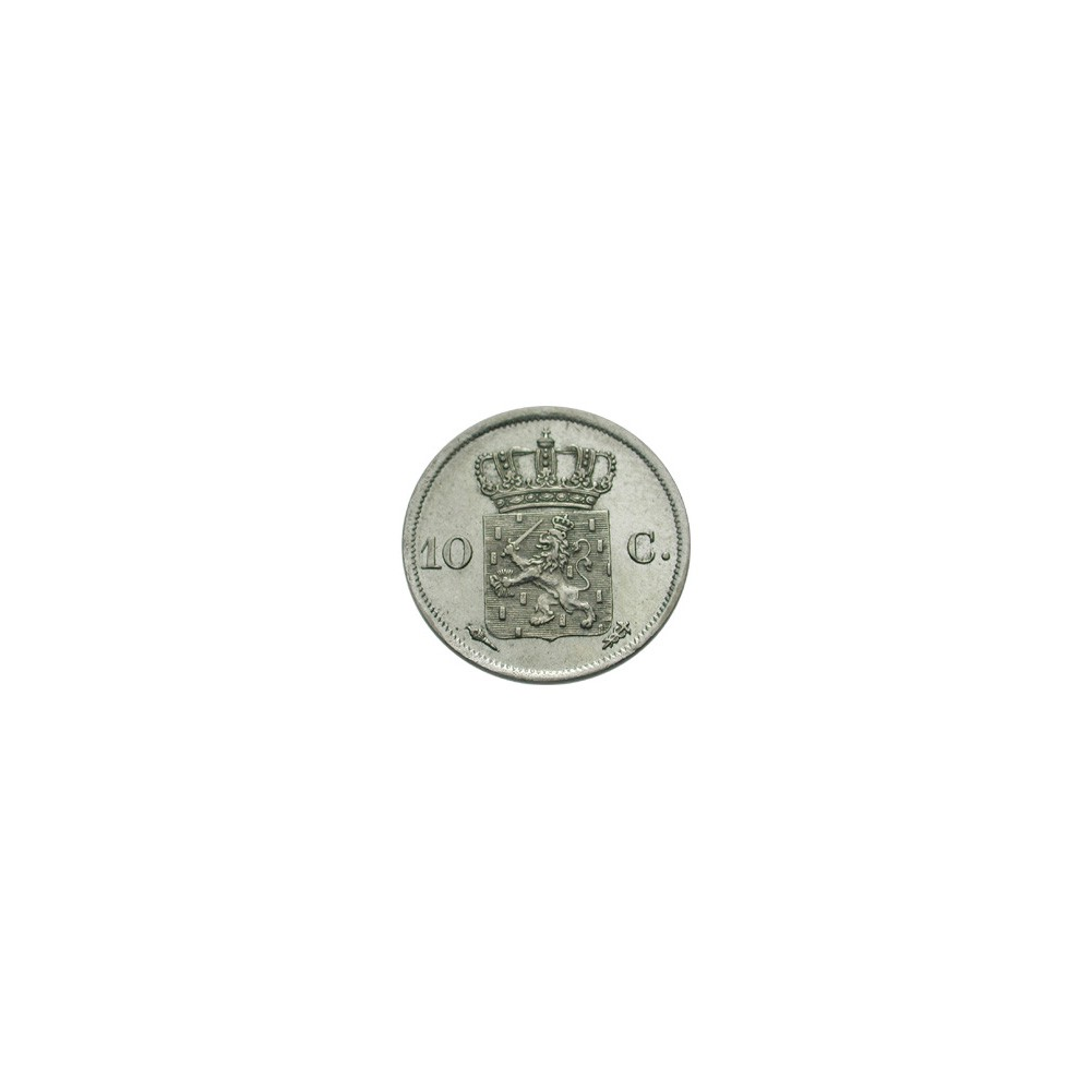 Koninkrijksmunten Nederland 10 cent 1828 U