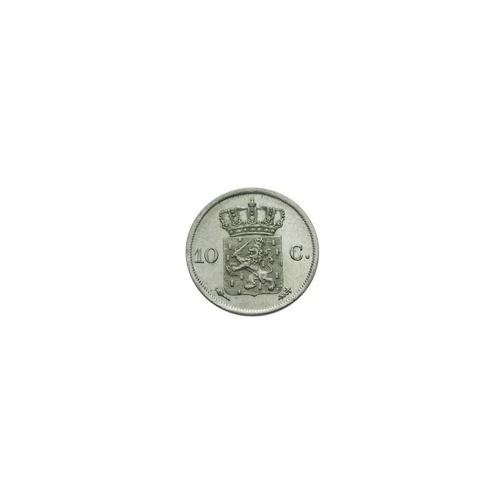 Koninkrijksmunten Nederland 10 cent 1828 B