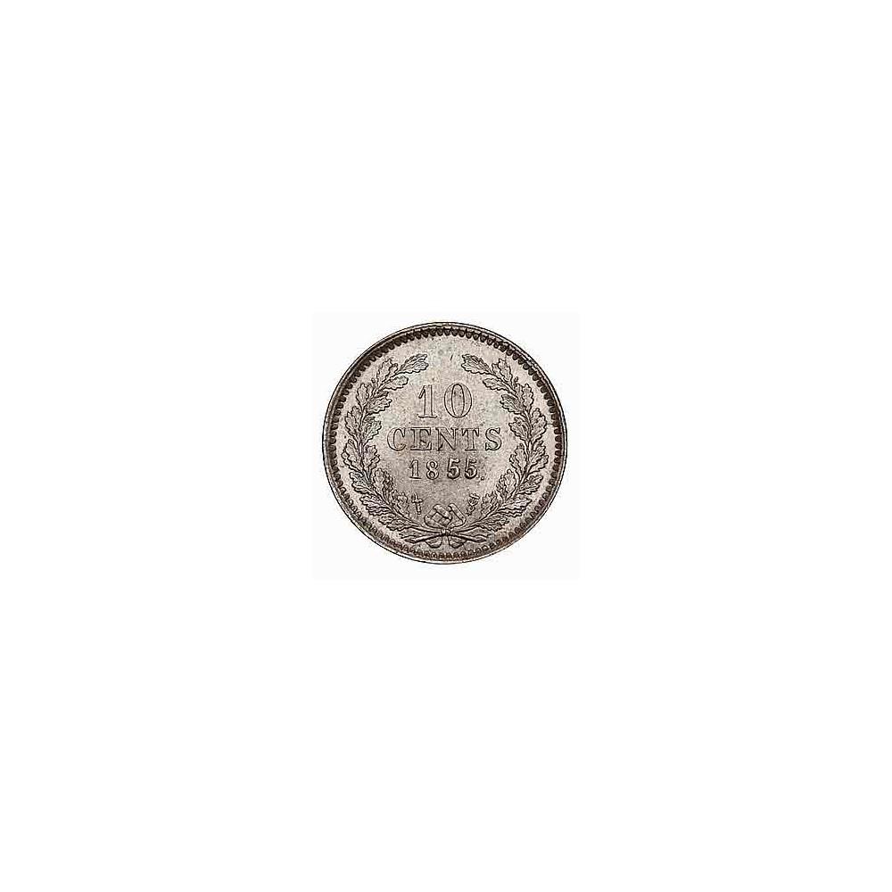 Koninkrijksmunten Nederland 10 cent 1855