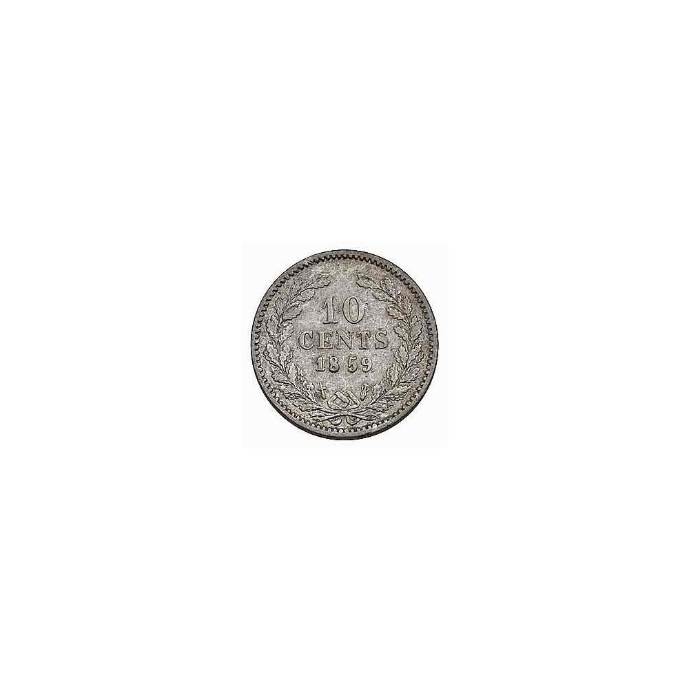 Koninkrijksmunten Nederland 10 cent 1859