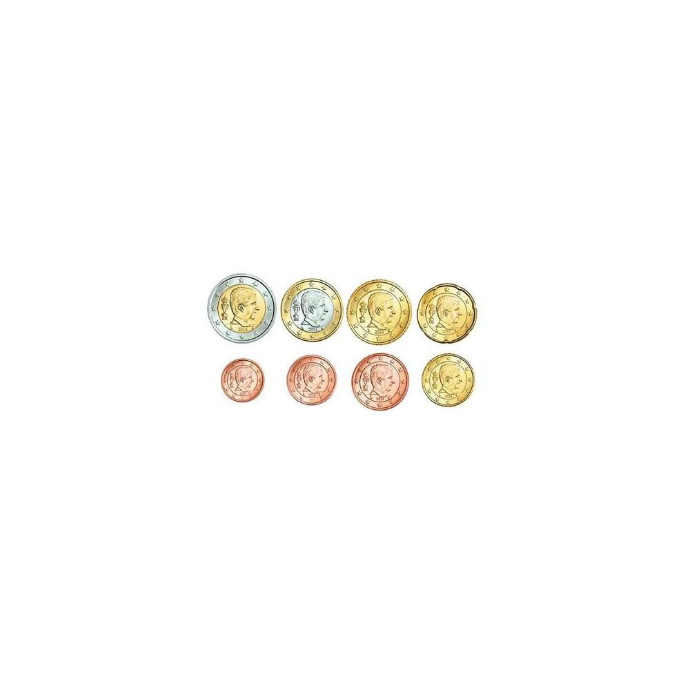 Belgie serie euromunten op jaartal