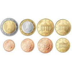 Duitsland serie euromunten op jaartal