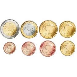 Estland serie euromunten op jaartal
