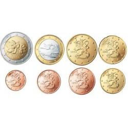 Finland serie euromunten op jaartal
