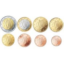 Ierland serie euromunten op jaartal