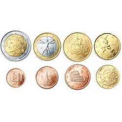 Italië serie euromunten op jaartal