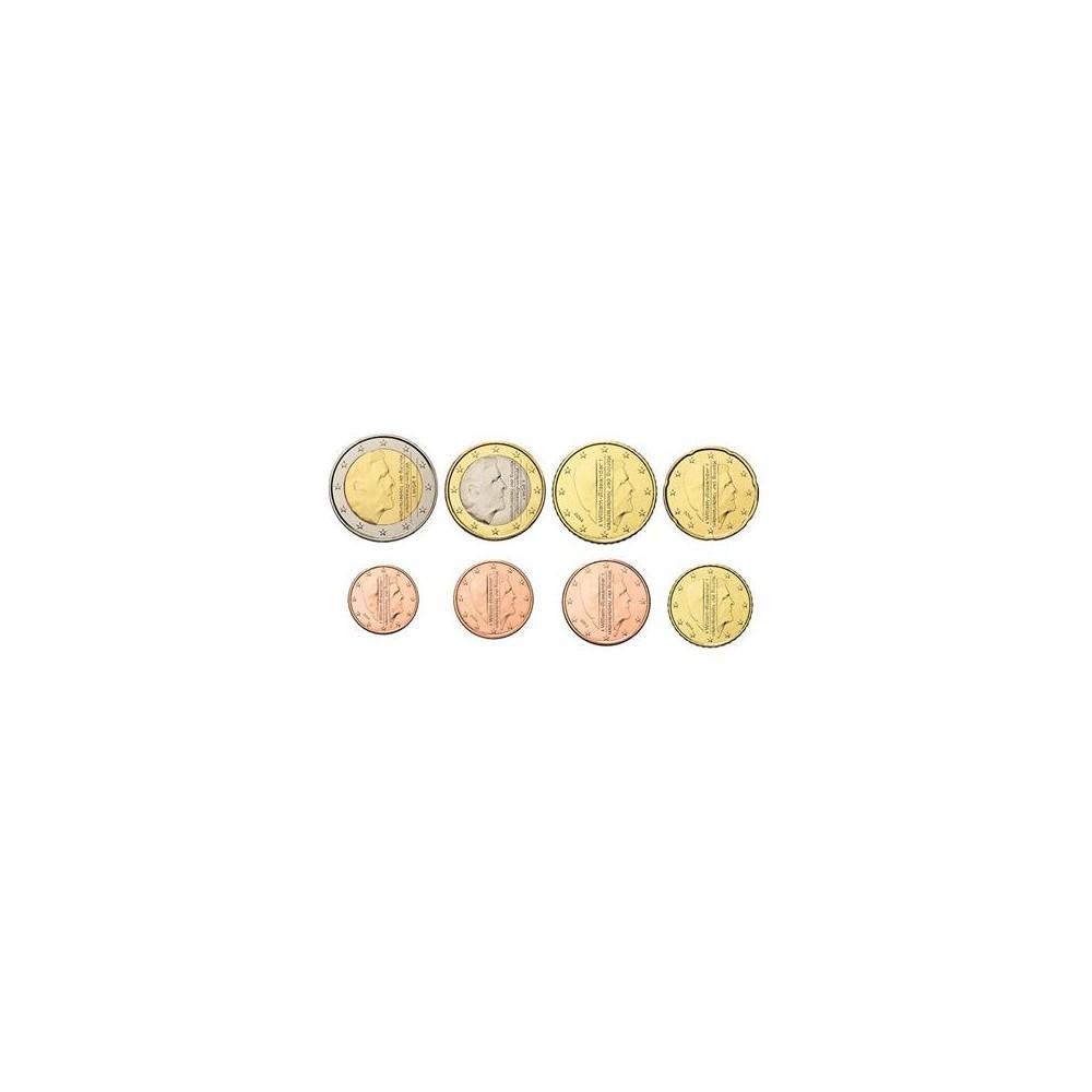 Nederland serie euromunten op jaartal