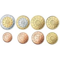 Portugal serie euromunten op jaartal