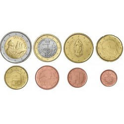 San Marino serie euromunten op jaartal