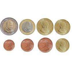 Vaticaan serie euromunten op jaartal