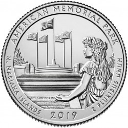 USA Quarter 2019 Mariana Islands 'Memorial Park'