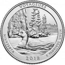 USA Quarter 2018 Minnesota 'Voyageurs'