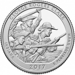 USA Quarter 2017 Indiana 'George Rogers Clark'