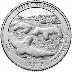 USA Quarter 2017 Iowa 'Effigy Mounds'