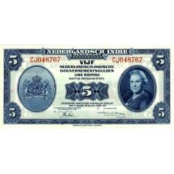 Nederlands Indië 5 gulden 1943