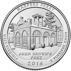 USA Quarter 2016 West Virginia 'Harpers Ferry'