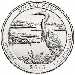 USA Quarter 2015 Delaware 'Bombay Hook'