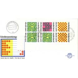 1973 Nederland FDC | Blok Kinderzegels