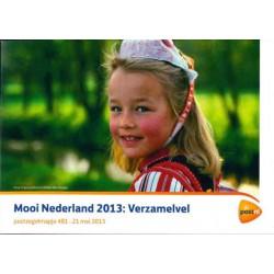 2013 Nederland postzegelmapje 'Mooi Nederland Verzamelvel'