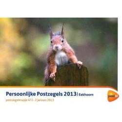 2013 Nederland Postzegelmapje Persoonlijke postzegels 'Eekhoorn'
