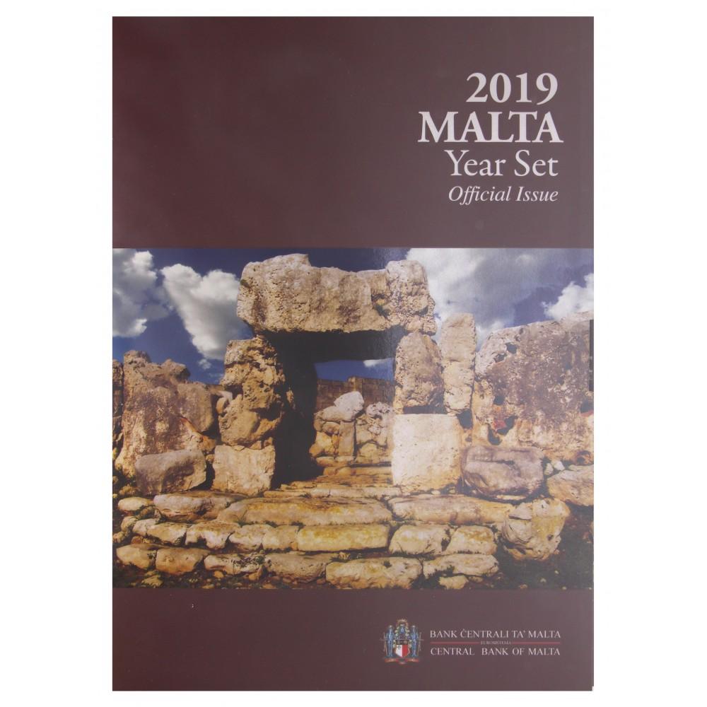 Malta BU-Set 2019 incl. 2 euro 'Ta Hagrat Tempels' met F in ster