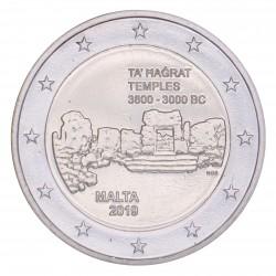Malta 2 euro 2018 'Ta Hagrat Tempels' mét F in onderste ster