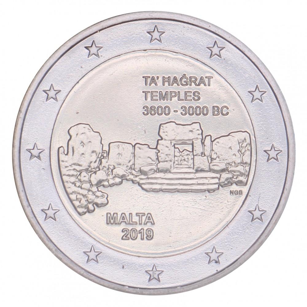 Malta 2 euro 2019 'Ta Hagrat Tempels' mét F in onderste ster