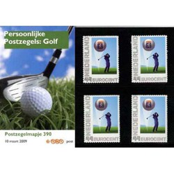 2009 Nederland Postzegelmapje Persoonlijke Postzegels : Golf