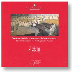 Italië BU-Set 2019 mét €5,-munt Cesare Maccari