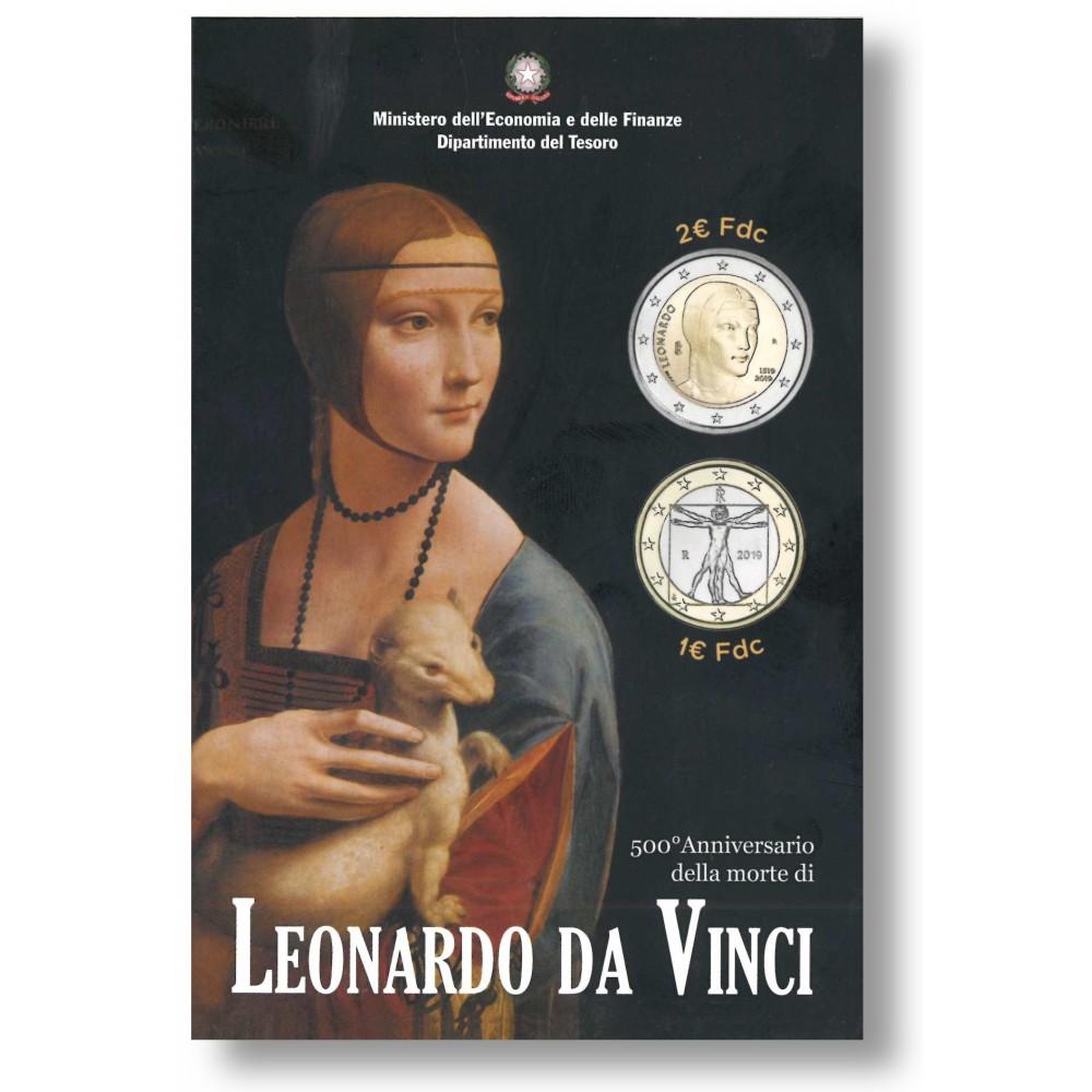 Italië 2 euro 2019 'Leonardo da Vinci' incl. 1 euro circulatie 2019
