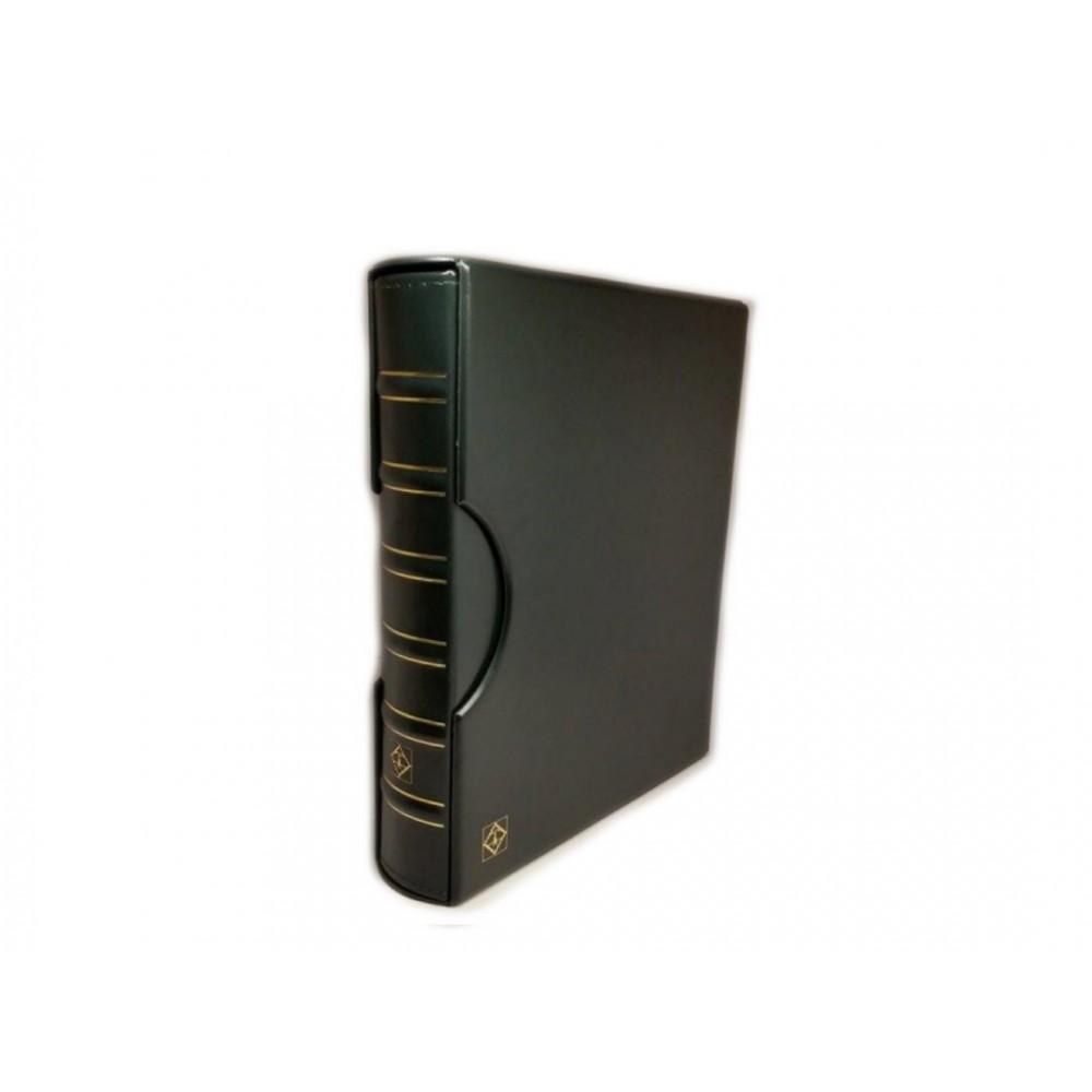 Leuchtturm GRANDE coincard album incl. 20 coincardbladen. Kleur blauw, groen en zwart
